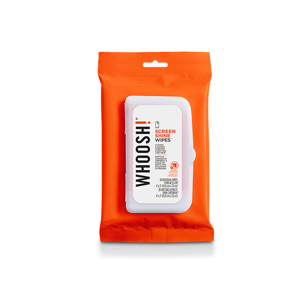 Whoosh screen Shine Wipes 20 Pack