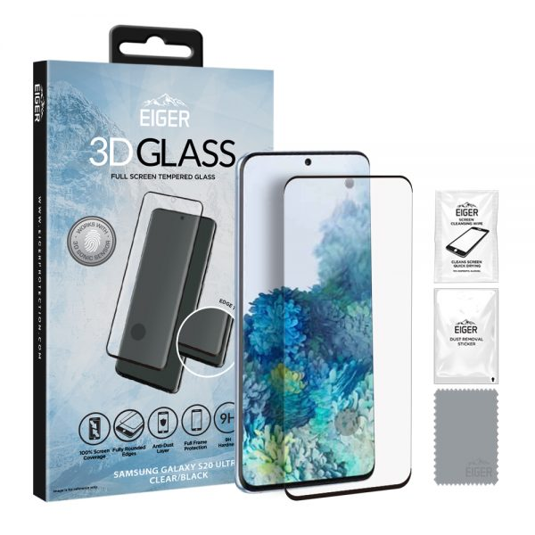 Eiger Glass Screen Protector Samsung S20 Ultra Clear/Black