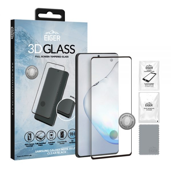Eiger Glass Screen Protector Samsung Note 10 Lite Clear/Black