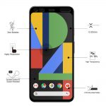 Eiger Glass Screen Protector Google Pixel 4 in Clear/BlackEiger Glass Screen Protector Google Pixel 4 in Clear/Black