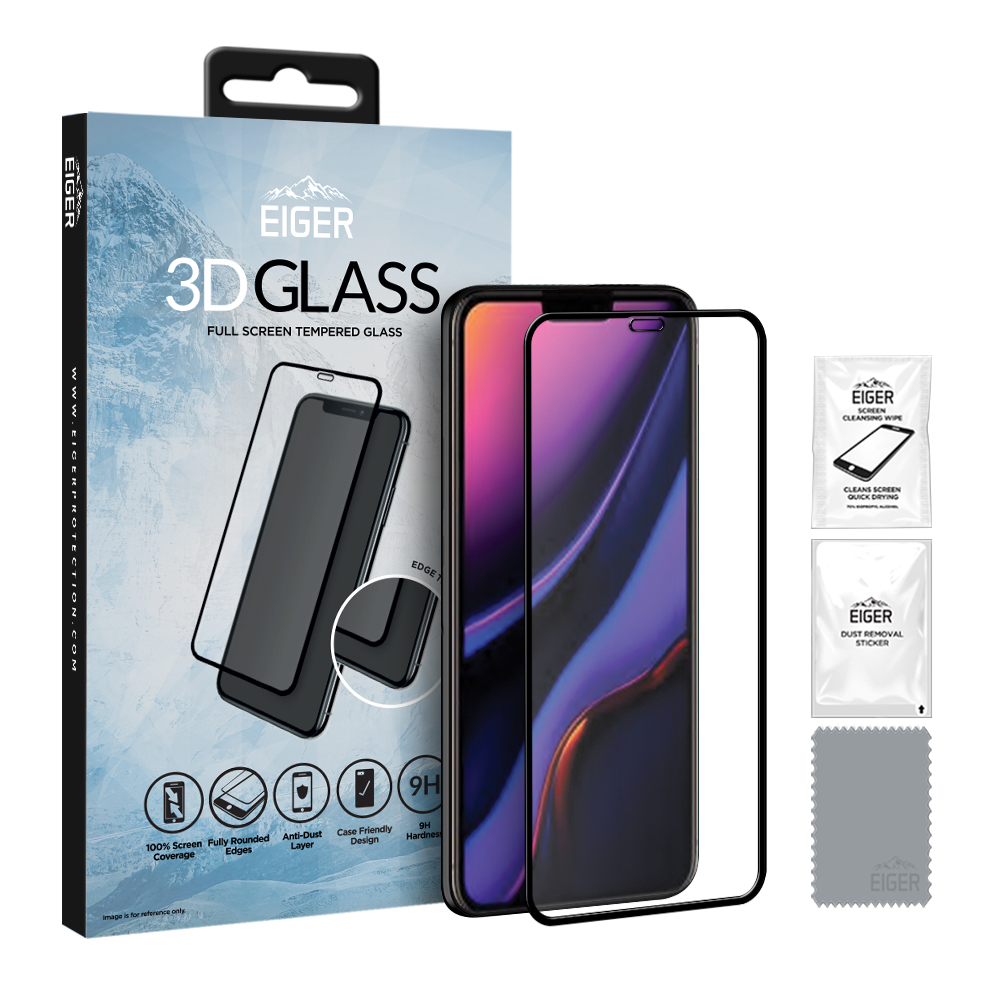 Eiger Glass Screen Protector iPhone 11 Pro/XS/X Clear/Black