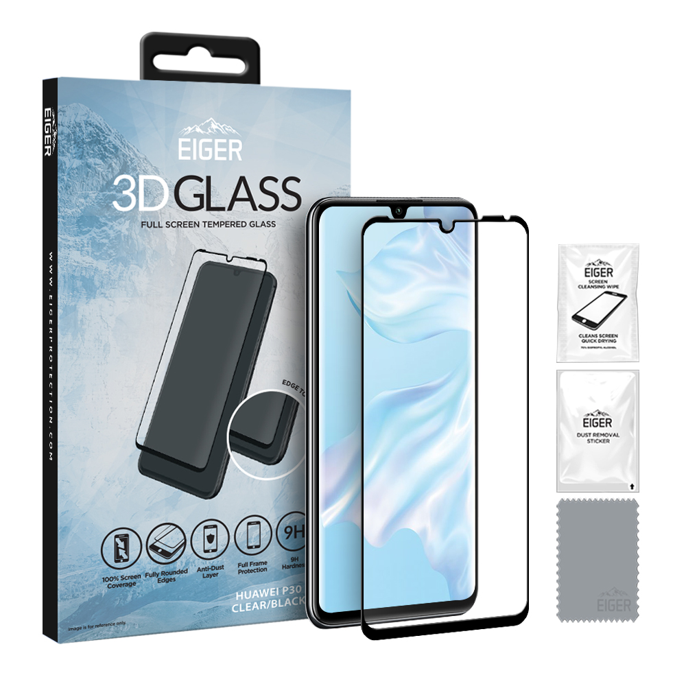 Eiger Glass Screen Protector Huawei P30 Clear/Black