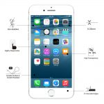 Eiger Glass Screen Protector iPhone 8+/7+ Clear/White