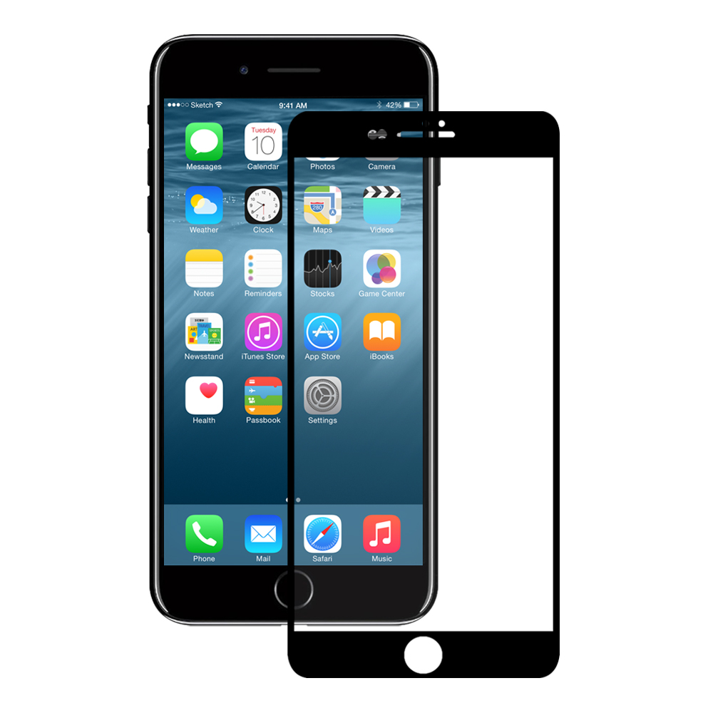 Eiger Glass Screen Protector iPhone 8+/7+ Clear/Black