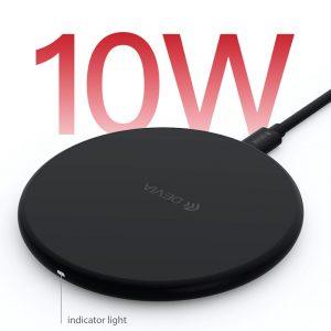 Devia , 10W Wireless Ultra Slim Charging Pad , Black