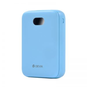 Devia 10,000Mah Dual Port Digital LED Indicator Powerbank Blue