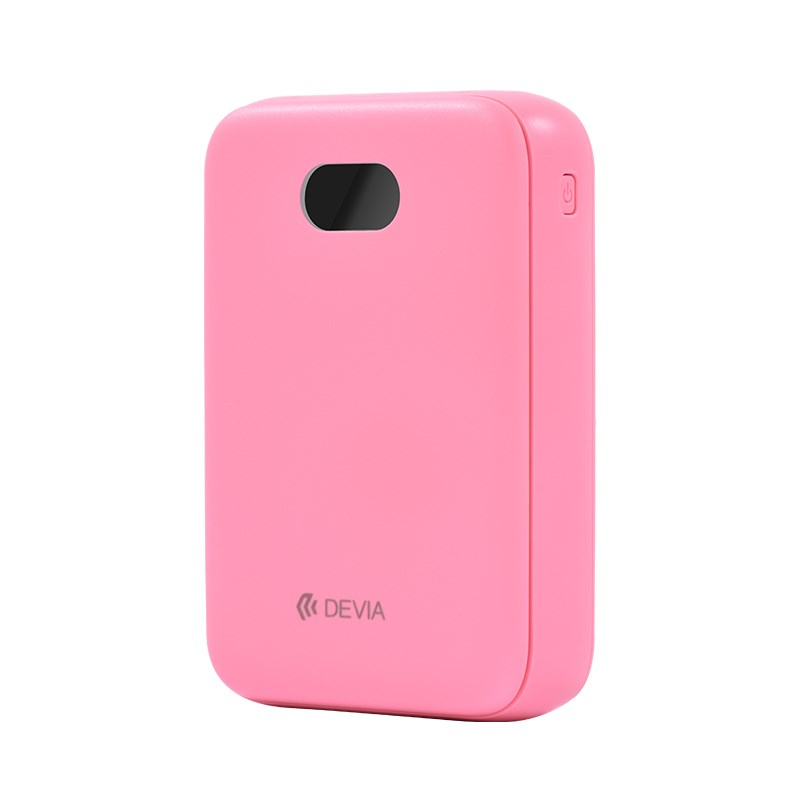 Devia 10,000Mah Dual Port Digital LED Indicator Powerbank Pink