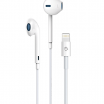 Devia Lightning Bluetooth Earphones Microphone & Volume Control White