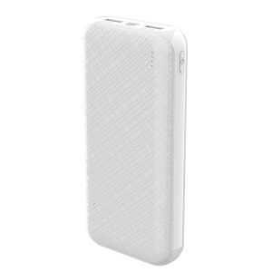 Devia 20,000 mAH Dual Port Power Bank White