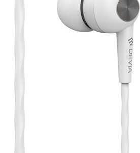 Devia In Ear Stereo Earphones With Microphone , White