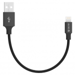 Devia 1m (2.1A) Braided USB to Non-MFi Lightning Cable Black