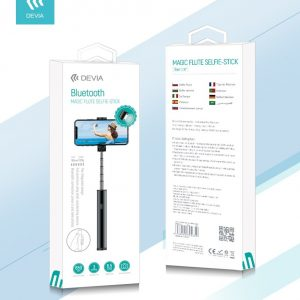Devia - Bluetooth Magic Selfie Stick & Magnetic Selfie Light - Black
