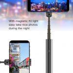 Devia - Bluetooth Magic Selfie Stick & Magnetic Selfie Light - Black