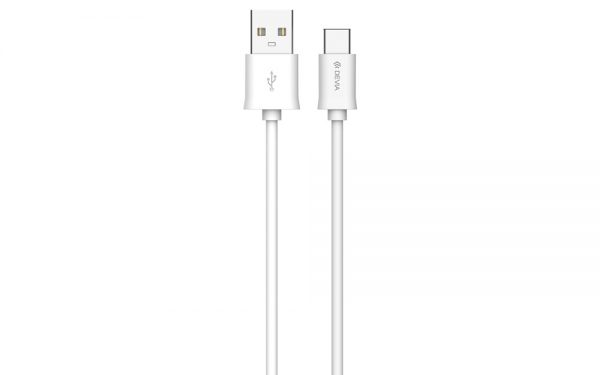 Devia - 1m (2.1A) USB to Type C Cable - White