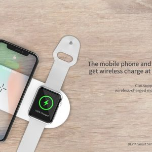 Devia 12W Dual Wireless Charging Pad for iPhone & Watch , White