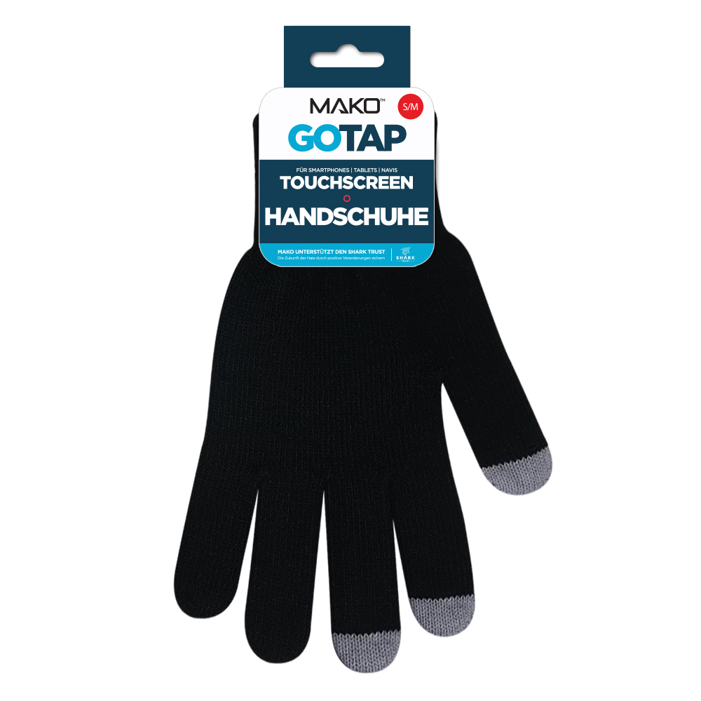 MAKO GOTAP Touchscreen Gloves in S/M in Black