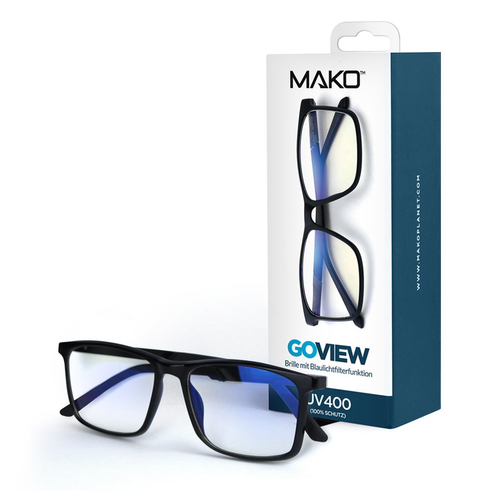 MAKO GOVIEW Blue Light Filter Glasses in Black