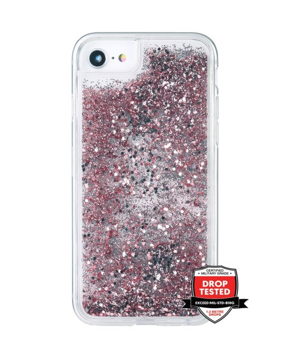 Xquisite GlitterFall for iPhoneSE/8/7/6S/6 - Rose Gold