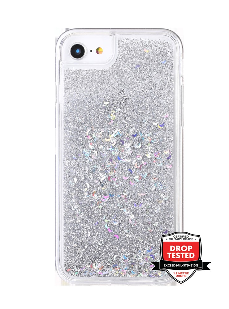 Xquisite GlitterFall for iPhoneSE/8/7/6S/6 - Silver