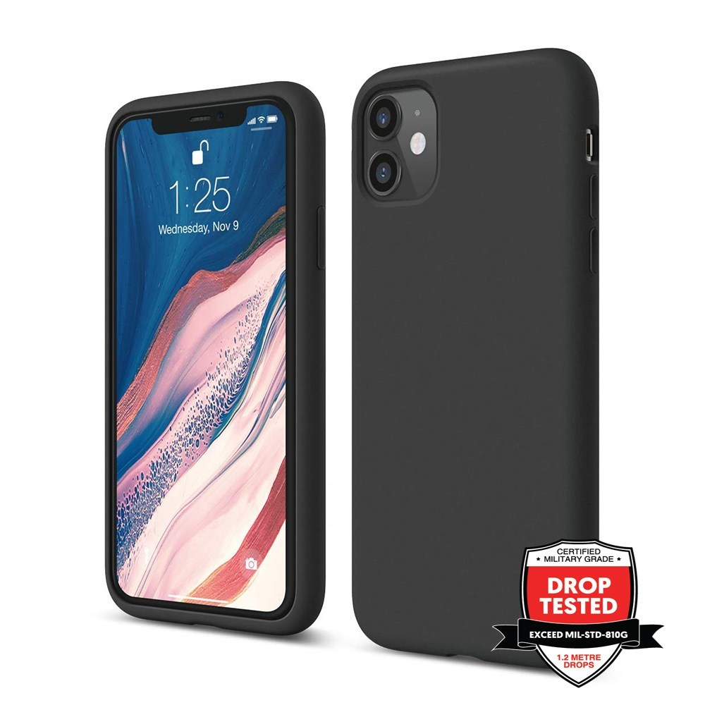 "Xquisite Silicone for iPhone 12 & 12 Pro 6.1"" - Black"
