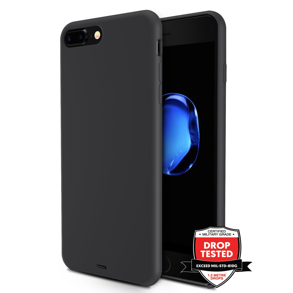 Xquisite Silicone for iPhone 8/7 Plus - Black