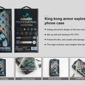 King Kong - Anti Burst Case for iPhone XR - Clear